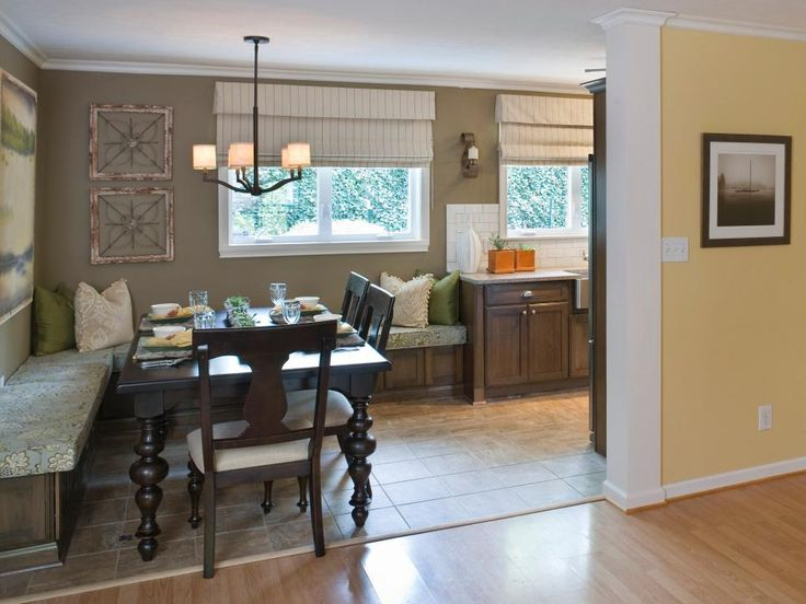 Small Kitchen Decorations Dining Room Furniture Cozy: A Cozy Corner Of The Kitchen Features Banquette Seating