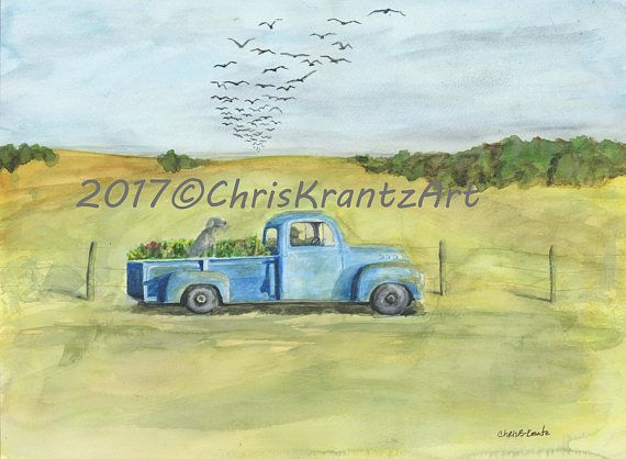 Check out this item in my Etsy shop https://www.etsy.com/listing/519576554/1950-ford-farm-truck-with-weimaraner
