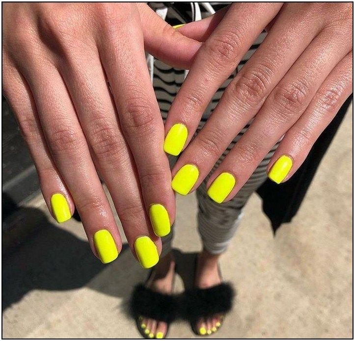 138 Most Amazing Summer Nail Color 2019 Page 103 Neon Yellow