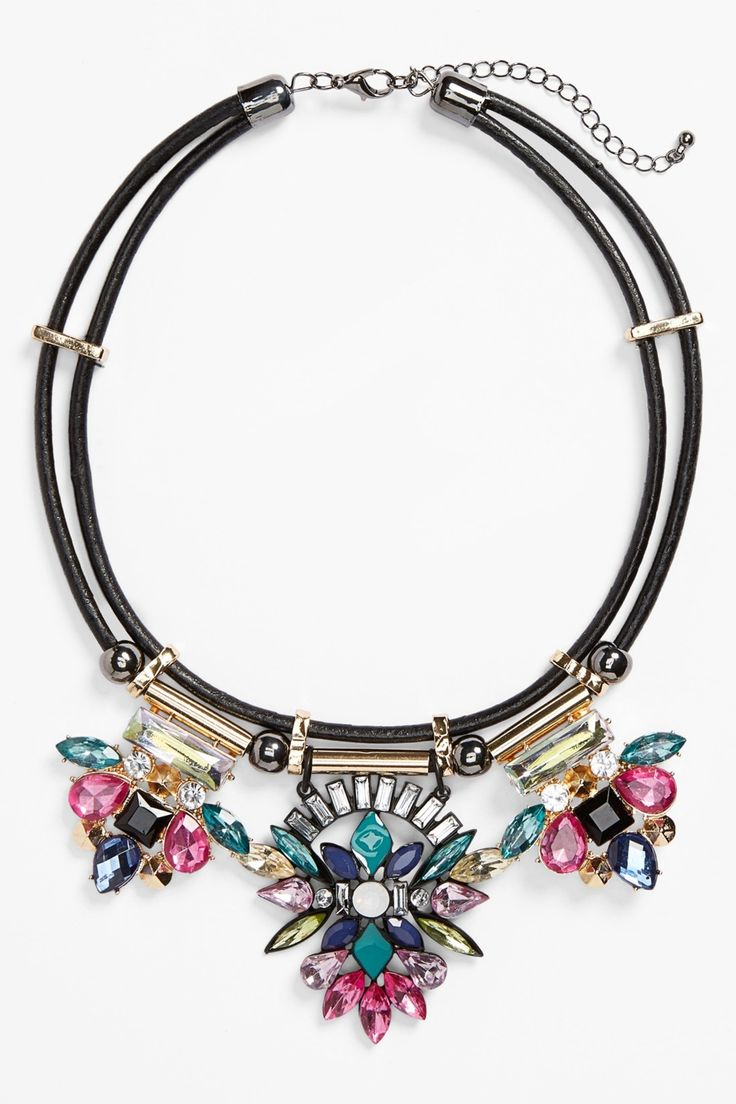 TOPSHOP | Rhinestone Collar Necklace | Nordstrom Rack