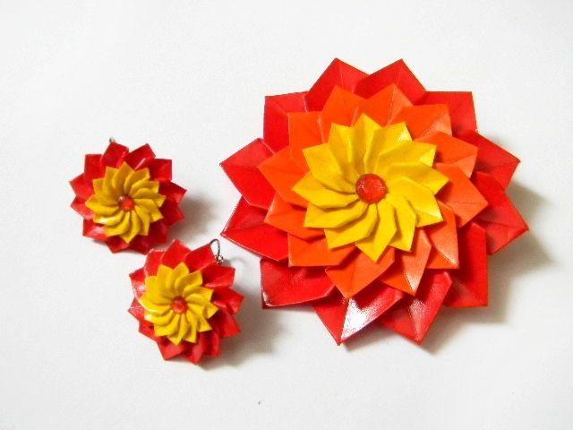 ručne robené origami šperky, handmade jewelry,  origami jewelry