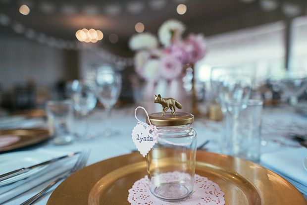 Pretty Pastel and Gold Chevron Wedding by Nisha Ravji Photography | www.onefabday.com
