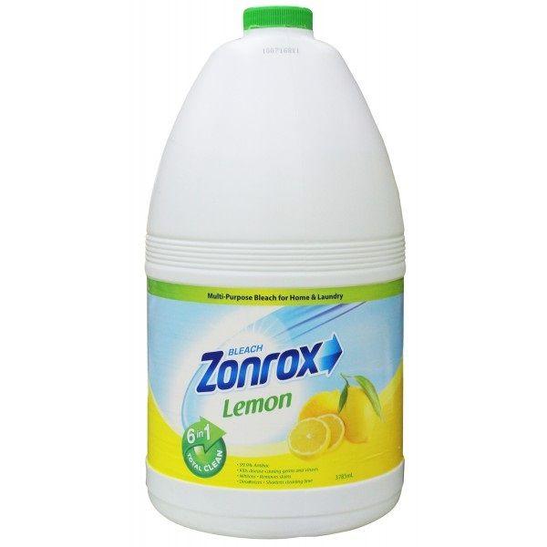 Zonrox Bleach Lemon 3785ml Bleach Lemon Dish Soap Bottle