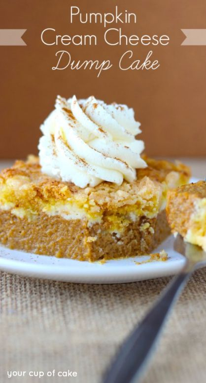 Easy Pumpkin Cream Cheese Cake, you'll be shocked with how easy and good this is!