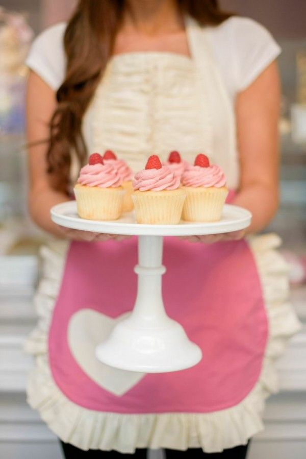 Raspberry cupcake toppers | theglitterguide.com #pinyourlove #picmonkey