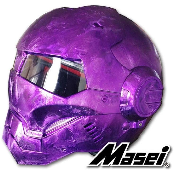 MASEI 610 Electroplating purple Motorcycle helmet