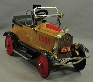 American National Packard pedal car, circa 1925, fully appointed, nickel grille, 52 inches long,