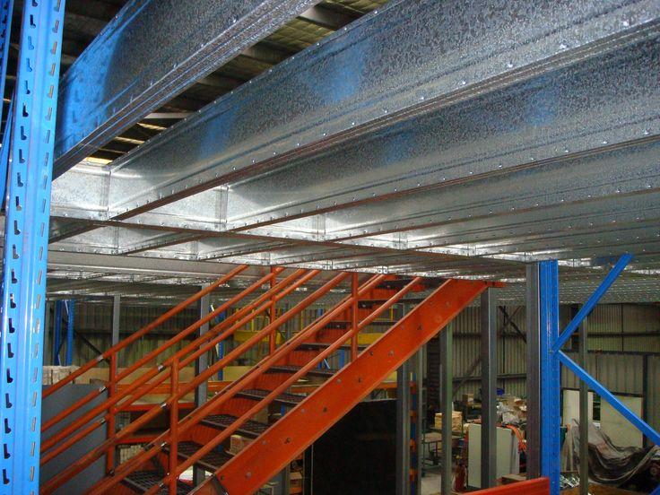 Steel Framed Factories : Boxspan steel mezzanine floor frame from our factory in
