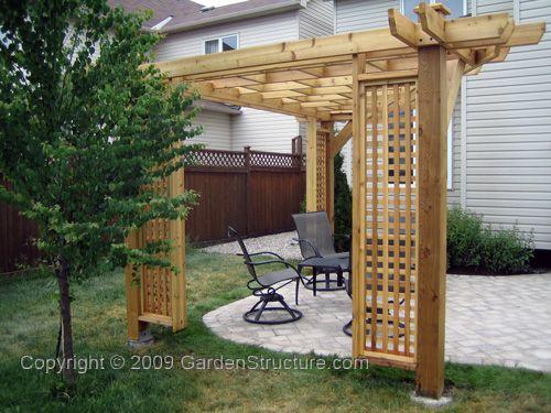 Best 25 corner pergola ideas on pinterest back garden for Courtyard landscaping ottawa