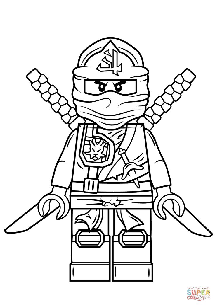 Lego ninjago green ninja super coloring ninjago for Coloring pages of ninjas