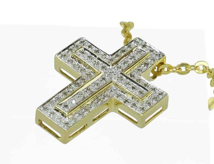Diamantkreuz mit 0,35ct Diamanten in 14 kt Gelbgold an Goldkette #weihnachten #geschenk #Schmuck #Schmuckboerse #vintage #verlobung #diamant #brillant Wir kaufen verkaufen Ihren Schmuck, antike Juwelen, Edelsteine, Brillanten aus Privatbesitz / Erbschaft! Wir beraten Sie für eine optimale Verwertung.https://www.schmuck-boerse.com/index-gold-halsschmuck-2.htm