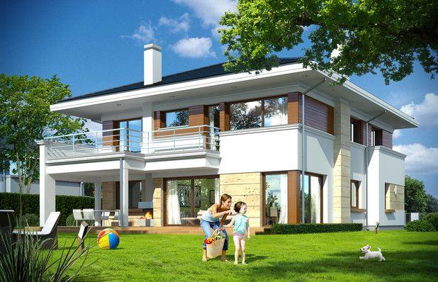TMU-687:Maksymalnie prosty i funkcjonalny układ pomieszczeń, bez skosów. Dom w pełni energooszczędny! Sprawdźcie koniecznie rzuty projektu!