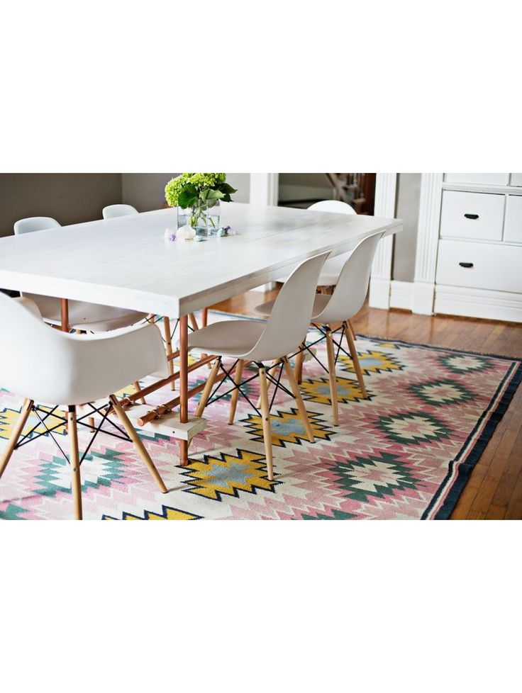Painted Desert Rug Diy Dining Room TableKitchen