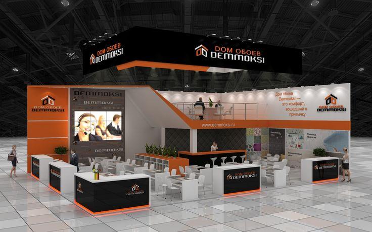 Стенд компании Дом Обоев.   Design of exhibition stands ...