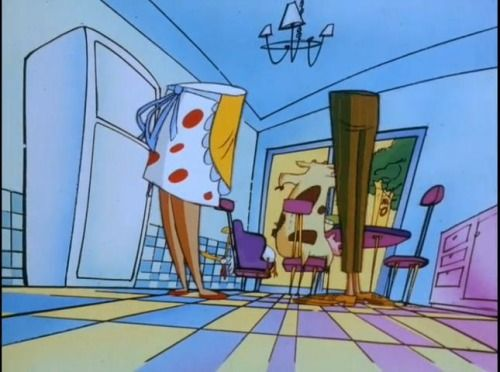 proof that mom and dad from cow and chicken have no upper body