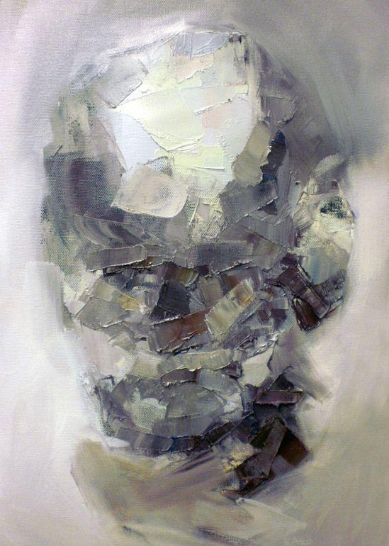 "Steve Salo; Oil 2013 Painting ""Portrait of a homeless man"""