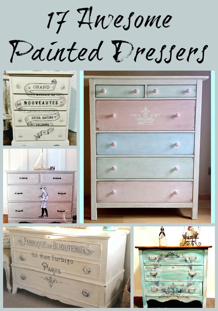 Painted dressers are wildly popular and always looks great. Pair a fresh coat of paint with a fun graphic and you have the perfect new piece of furniture.