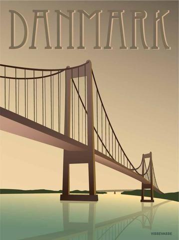 Little Belt Bridge - poster | Danish Design from Vissevasse