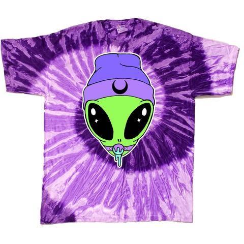 Kinky Alien Tee-- Purple Tie Dye