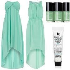 vestidos color verde menta dama