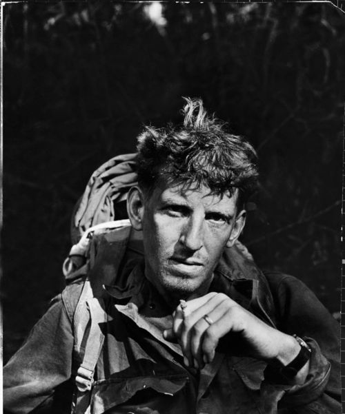A British soldier photographed sometime during the Burma campaign, 1944