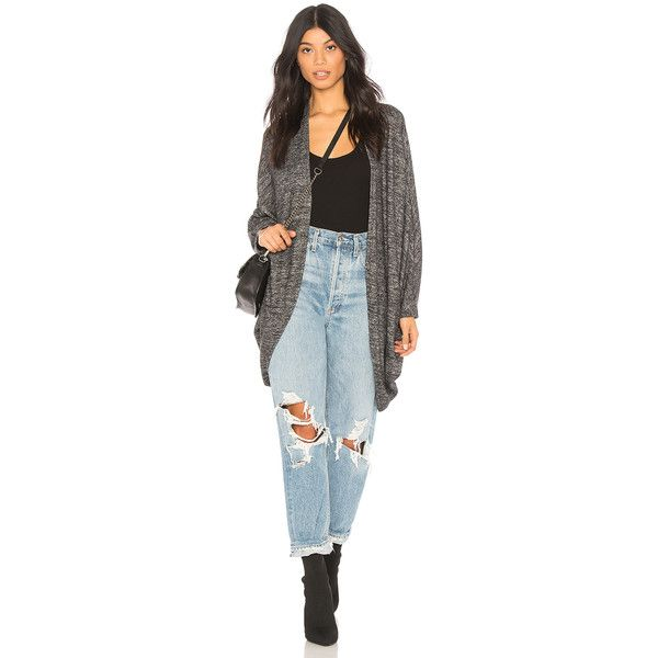 Olympia Theodora Roxy Cardigan (€81) ❤ liked on Polyvore featuring tops, cardigans, sweaters & knits, open front cardigan, blue top, cardigan top, open front tops and blue cardigan