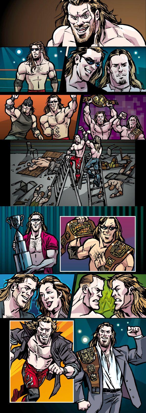 The Edge mini comic tribute #wwe