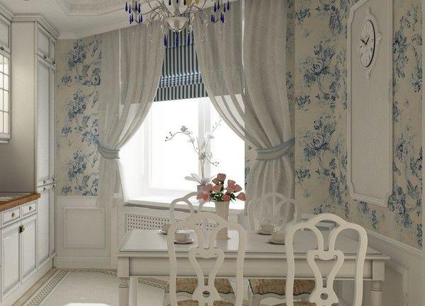 Современные шторы на кухню с фото