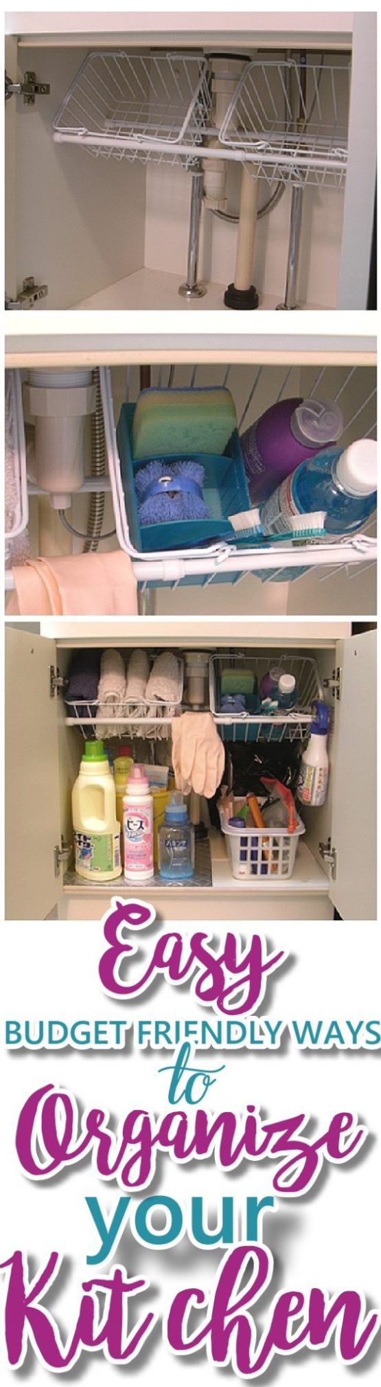 EASY Budget Friendly Ways to Organize your Kitchen {Quick Tips, Space Saving Tricks, Clever Hacks & Organizing Ideas} – Dreaming in DIY