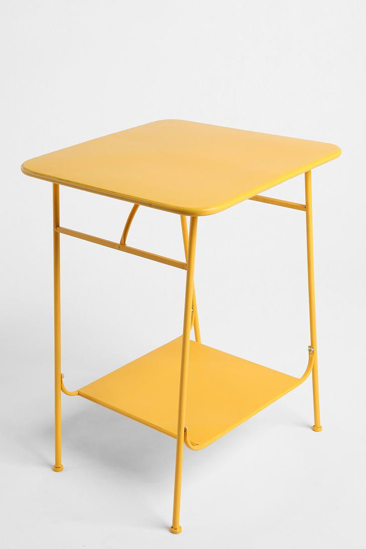 Factory Side Table  #UrbanOutfittersUrbanoutfitters, Living Rooms, Urban Outfitters, Room Colors, Factories Side, Bedside Tables, Yellow Factories, Accent Tables, Bright Colors