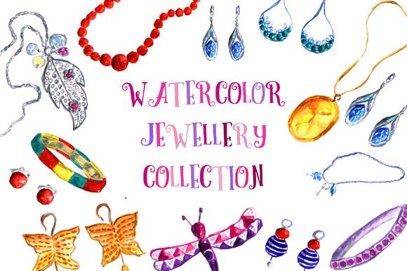 Watercolor juwelly collection by SolPrincipe on Creative Market