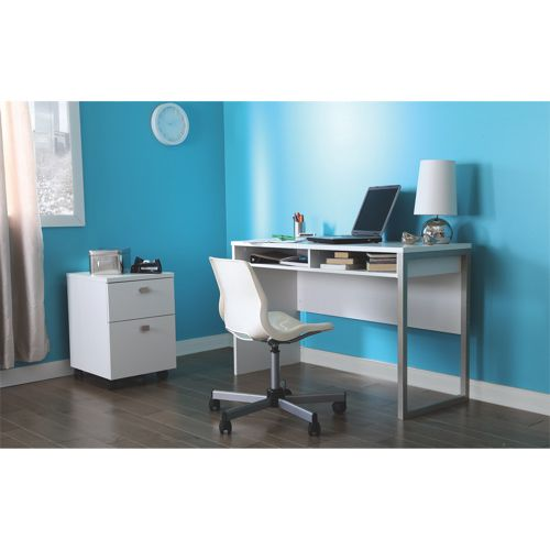 South Shore Interface Desk - Pure White #SetMeUpBBY perfect for a student 							 							 							- Online Only