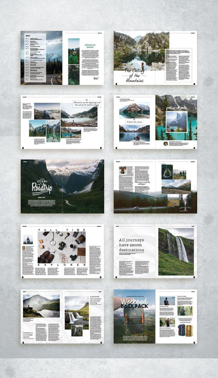 Diseño de la revista Adventure Travel #travelguidelayou … – #Aventura #Disposición #Maga …   – Kochen