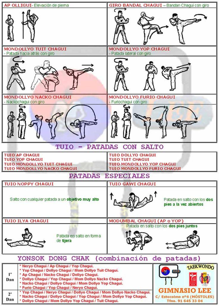 Técnicas de pierna Taekwondo 2/2