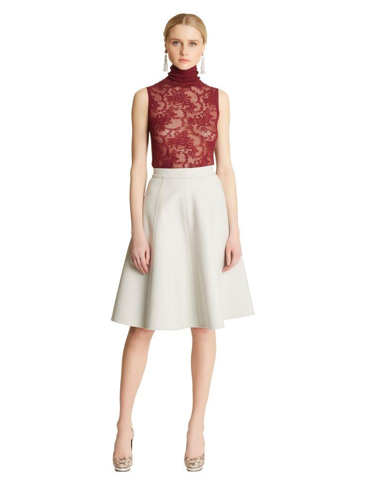 Oscar de la renta high low dress white skirt