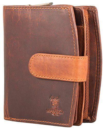 830e4a134f4a6 MATADOR Damen Leder Geldbörse RFID Antik Vintage Braun. Handgemachte ECHT  Leder Geldbörse Geldbeutel Portemonnaie Geldtasche