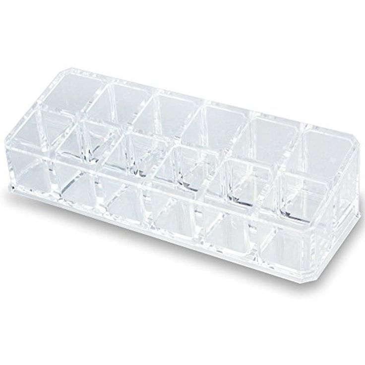 Clear Acrylic Makeup Case and Lipstick or Brush Holder with 12 Compartments * Want to know more, click on the image. (This is an affiliate link) #ToolsAccessories