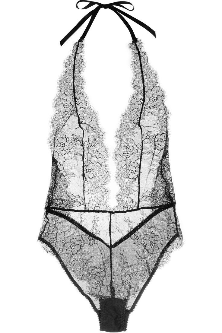 L'Agent by Agent Provocateur   Grace lace and stretch-tulle bodysuit   NET-A-PORTER.COM