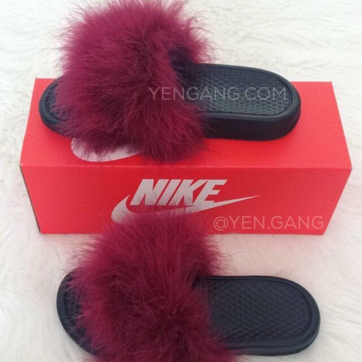 Image of Fur Nike Slides