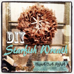 Burlap Starfish Wreath | Superb Curb Refurb