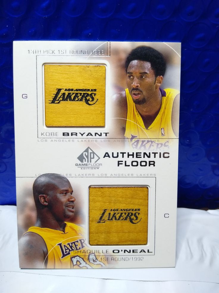2001 upper deck basketball double relic kobe bryant