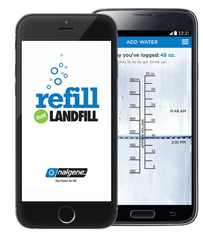 There's an app for that! Track water consumed & dollars saved when you choose to reuse www.nalgene.com/app