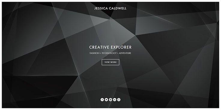 Jessica Caldwell ultra minimal web design