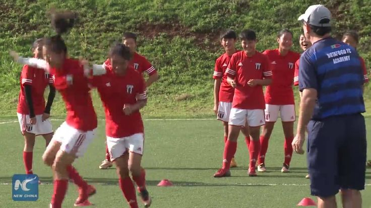 Chinese junior footballers trained in Brazil's Sao Paulo for glory back home.