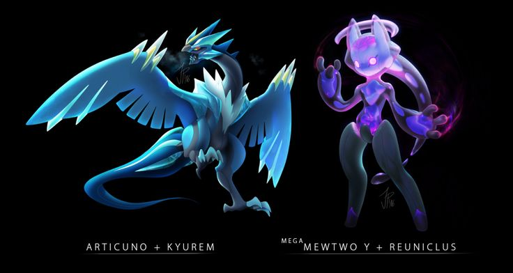 e621 articuno fusion kyurem legendary_pokémon mega_evolution mega_mewtwo mega_mewtwo_y nintendo pokémon reuniclus syntheticimagination video_games