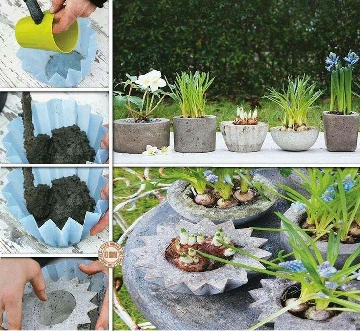 Para hacer maceteros de cemento decoraci n diy for Macetas de piedra para jardin