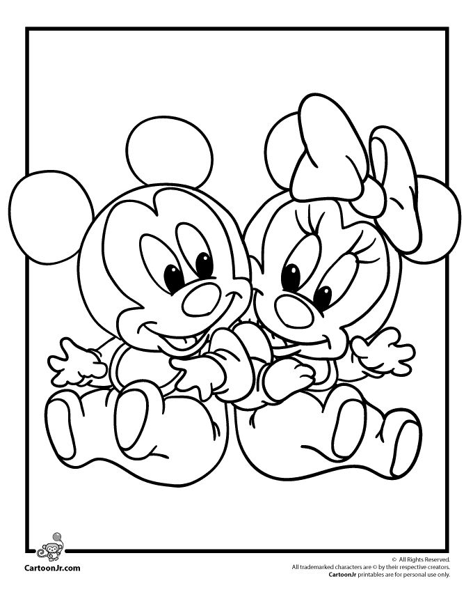Disney Babies Coloring Pages Cartoon Jr Pattern For Felt Christmas