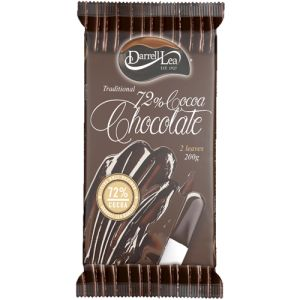 Darrell Lea Traditional Chocolate 72% Cocoa. Darrell Lea has been making Australia's finest chocolate for over 85 years.