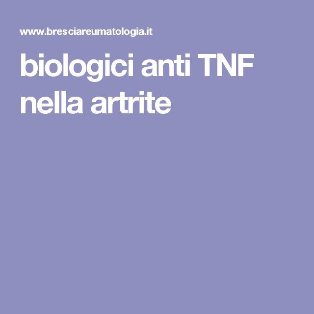 biologici anti TNF nella artrite