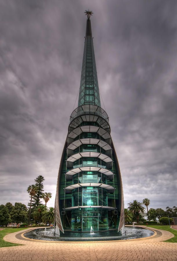 The Bell Tower on the foreshore of Perth,Western Australia.